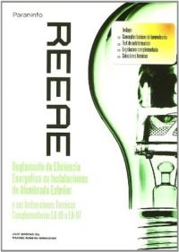 Resultado de imagen para REEAE : Reglamento de eficiencia energética en instalaciones de alumbrado exterior y sus instrucciones técnicas: complementarias EA-01 a EA-07 PARANINFO